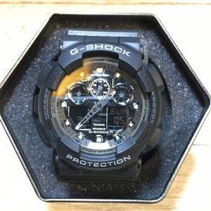 Casio G Shock Black GA100 sports watch NEW!